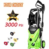 Homdox Electric Pressure Washer Power Washer Cleaner 3000PSI 1.8GPM Power Pressure Washer Machine 1800W with Power Hose Gun Turbo Wand