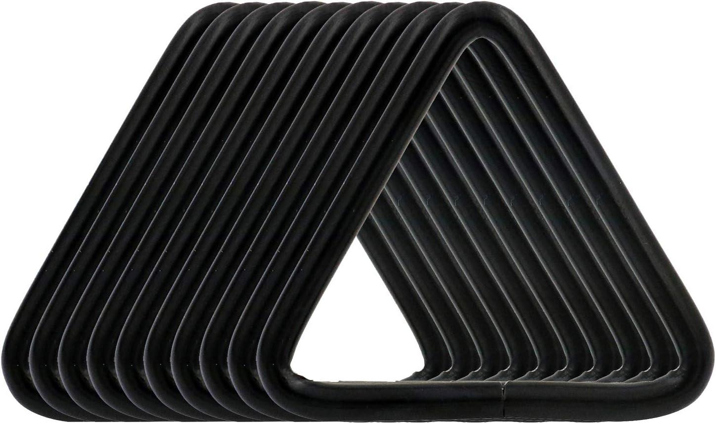 Black BIKICOCO 1-1//2 Metal Triangle Ring Buckle Connectors Non Welded Round Edge Webbing Bag Clasp Handbag Strap Making Hardware Pack of 10