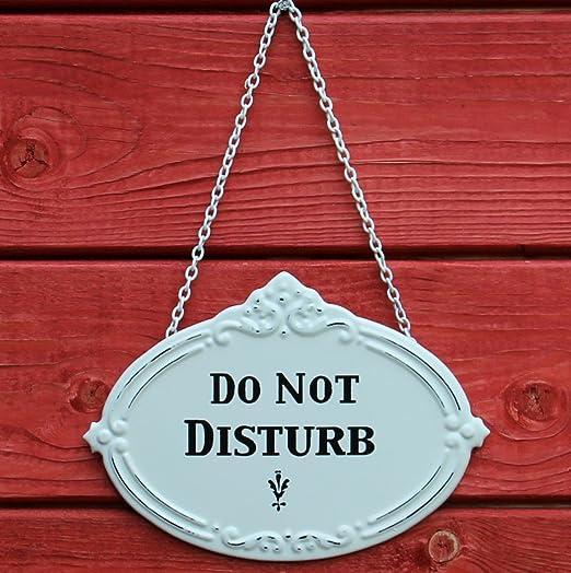 Puerta Cartel Do Not Disturb - Placa de metal para ...