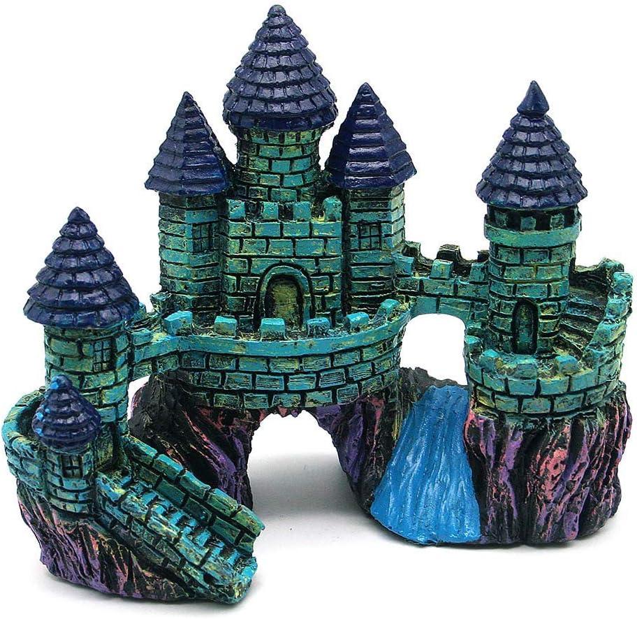 AVOICE Aquarium Decorations Castle - Aquarium Ornament Super Castle 6.3 inches