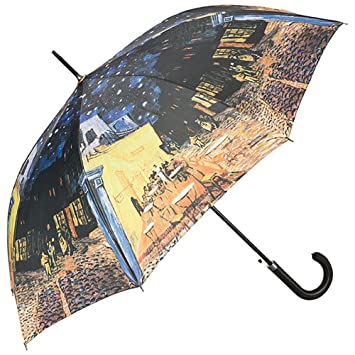 VON LILIENFELD Paraguas Automática Mujer Motivo Arte Vincent Van Gogh: Café Nocturno: Amazon.es: Equipaje