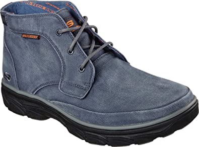 Skechers 64802 Men's Relaxed Fit Resment Tavos Ankle Boot, Blue, ...