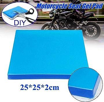 Motorrad Sitz Gel Pad Dämpfung Matte Komfortable Weiche Kissen Blau 25x25x2cm Auto