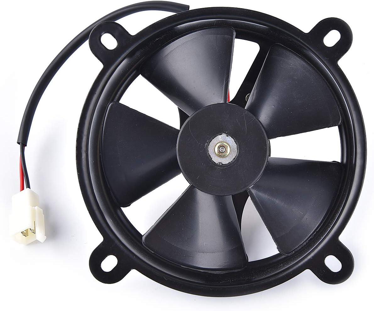 12V DC Radiator Cooling Fan for 200cc 250cc Taotao Sunl Coolster Roketa Water-cooled ATV Quad Go-kart