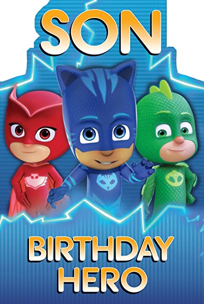 PJ Masks Son Birthday Hero Card
