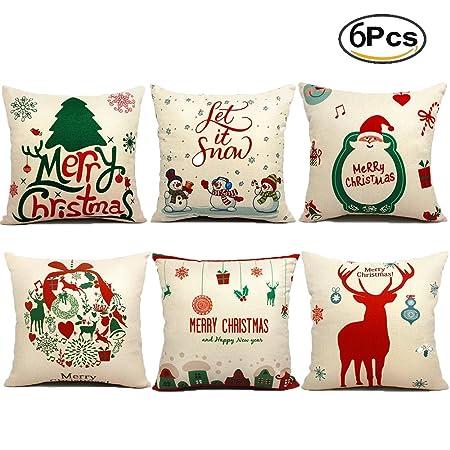 Christmas Pillows.Jbneg 6 Packs Christmas Pillows Covers 18 X 18 Christmas