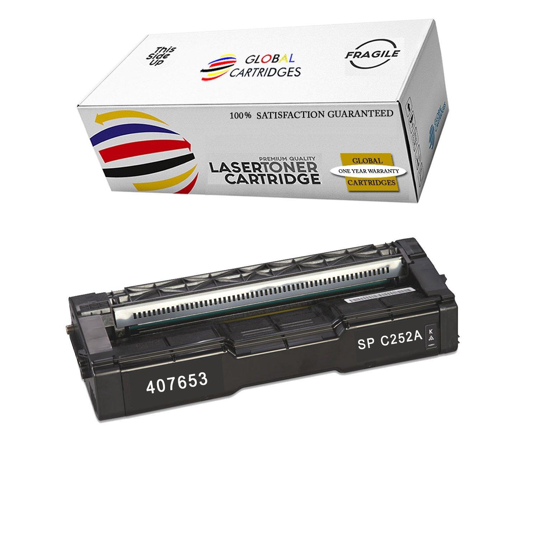 GLB Premium Quality Compatible Replacement Ricoh Black 407653 for Ricoh SP C252DN SP C252SF Printers