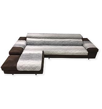 Funda para sofá en forma de L, con acolchado a cuadros y de ...