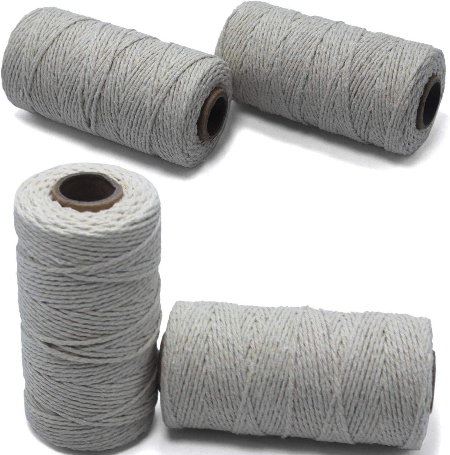 Q&A 4 Rollos de 2mm de Cuerda de algodón, 1312 pies de Cuerda ...