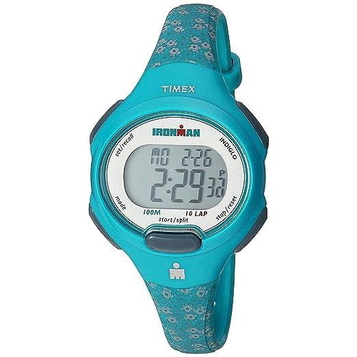 712c7e3e77be Timex Reloj de Mujer Cuarzo Correa y Caja de Resina Color Azul TW5M07200   Amazon.es  Relojes