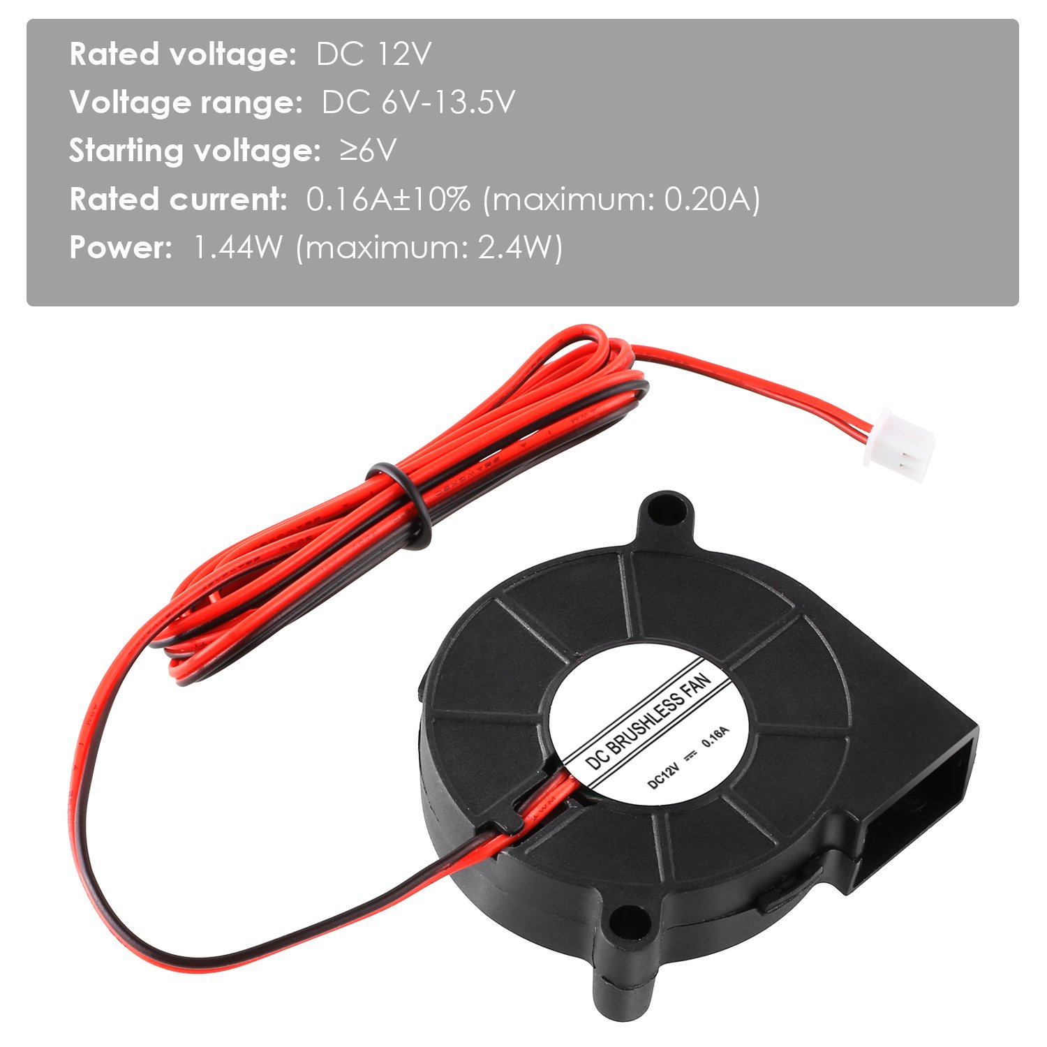 3 Packs Mvpower 3D Cooling Blower Fan DC 12V 2Pin Accessories for 3D Printer Cooler Heatsinks