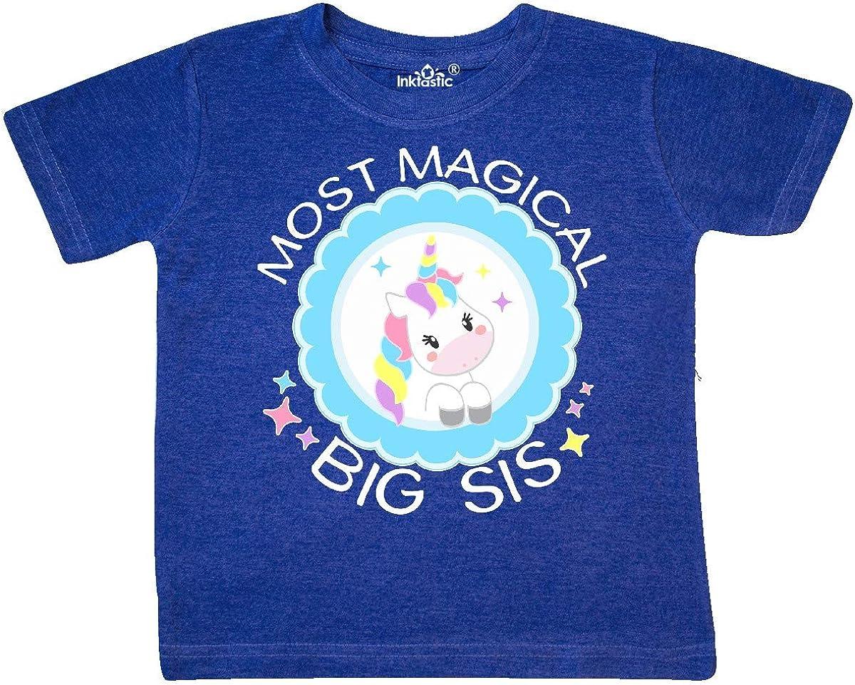inktastic Most Magical Big Sis Cute Unicorn Badge Toddler T-Shirt