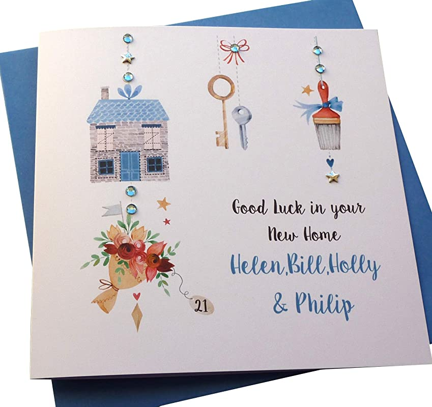 New Home Congratulations Card with Paper Insert