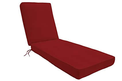 Amazon.com: Eddie Bauer Sunbrella Chaise Lounge - Cojín ...