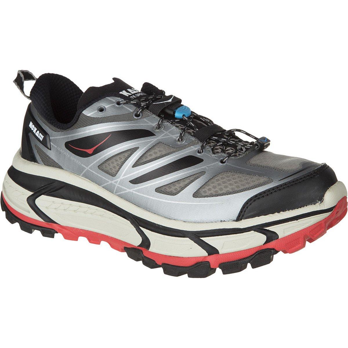 9939d766c788c0 Hoka One One Mafate Speed Trail Running Shoe - Men s Grey Black Red ...