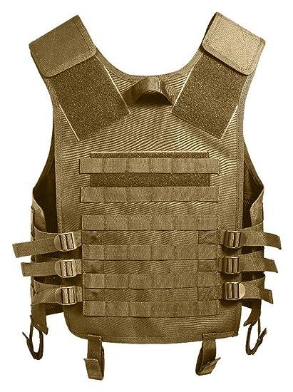 Amazon.com   Coyote Tan MOLLE Modular Military Tactical Assault Vest ... 3a03950ddd5