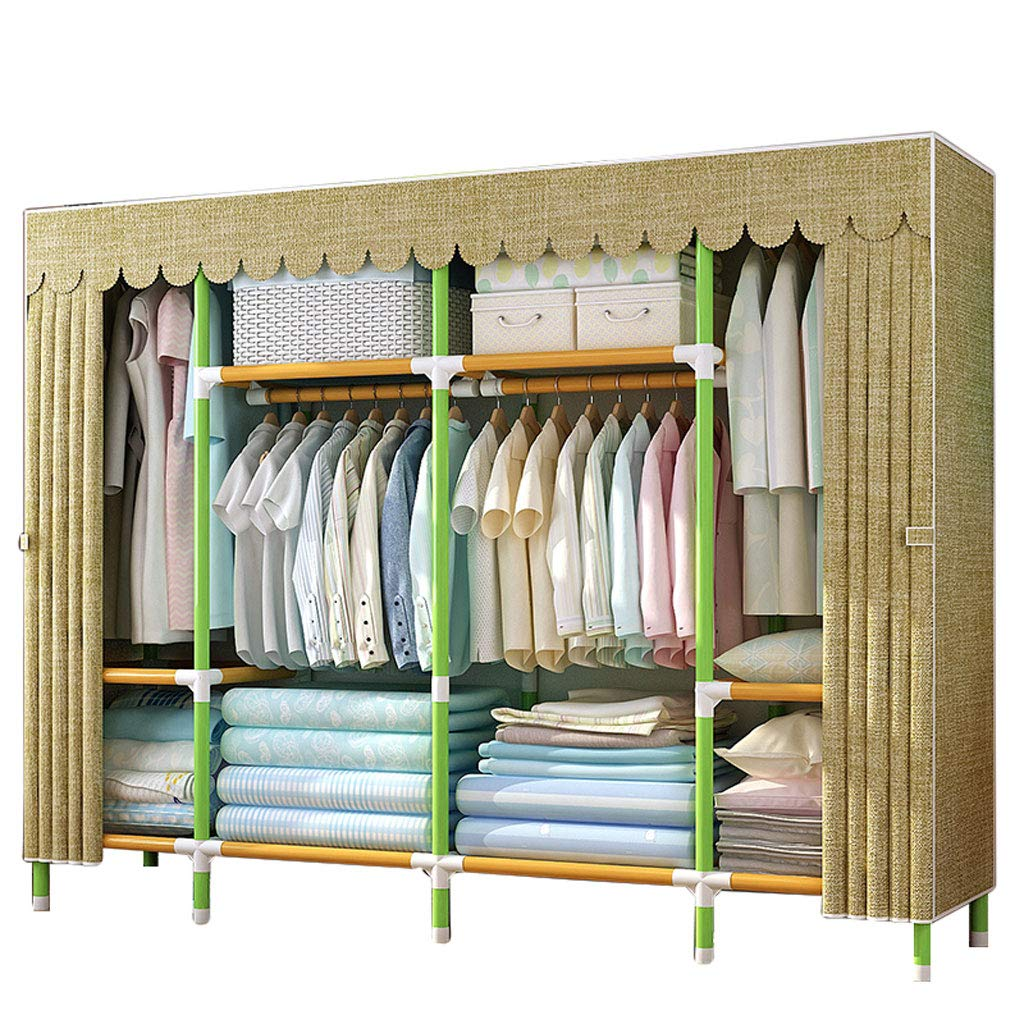 C Simple wardrobe Simple wardrobe 210  45  170cm Steel Tube Oxford Cloth Thickened Assembly Wardrobe (color   D)