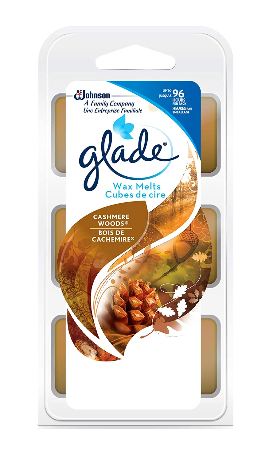 Glade Glade wax melts - cashmere woods 6 count SC Johnson 660609
