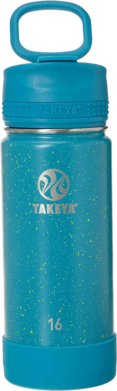 Takeya Actives Insulated Travel Mug, 16oz, Dark Teal Speckle