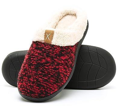 94e1177035e242 Molodo Women s Cozy Memory Foam Slippers Fuzzy Wool-Like Plush Fleece Lined  House Indoor Outdoor