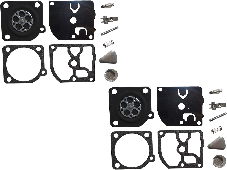Kit de reparación y reconstrucción de carburador sustituye a ZAMA RB-146 para Motosierra Homelite de 40 CC ZAMA C1Q-H64 (Paquete de 2)