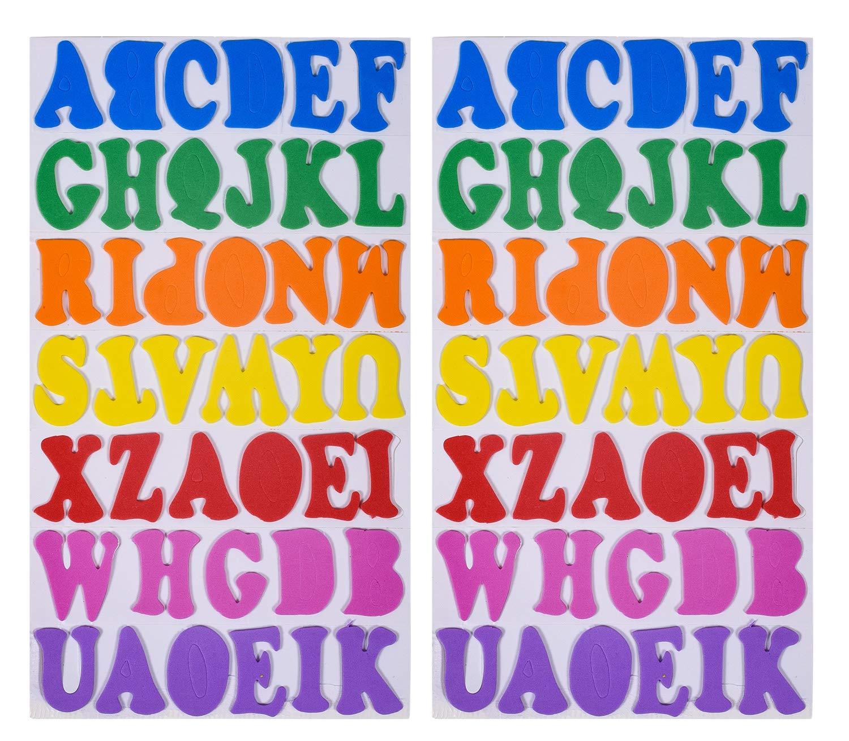 Amazon.com: Pegatinas de espuma con purpurina, letras ...
