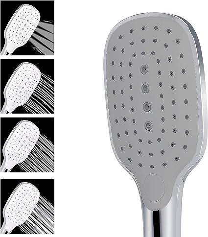 Soffione Doccia a mano 4 Funzione Telefoni Doccia ad alta pressione 26 x 9,6 x 3 cm