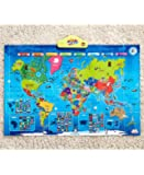My USA My World Interactive Talking World Map for Kids - World Facts, Trivia and Quiz's - Portable and Easy to Use