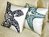 DECOPOW Embroidered Cute Nautical Animal Pillow