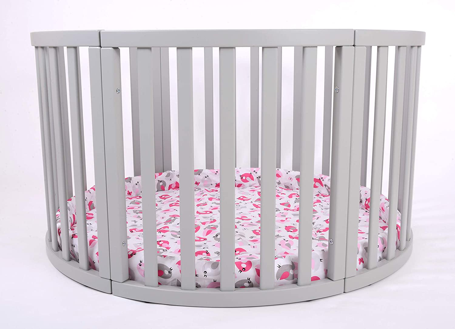 MJmark Round PLAYPEN APOLLO QUATTRO VERY LARGE Wooden play pen with play-mat Birds Sanctuary SALE SALE
