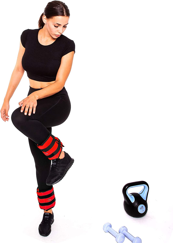gimnasia 2X 0,5kg 2X 3kg-2x 4kg-2x 5kg-2x 6kg 2X 1,5kg 2X 2kg C.P 6,0 2X 2,5kg Sports Pu/ños de peso artes marciales 2X 1kg yoga crossfit fitness aer/óbicos pesa pies y mu/ñeca