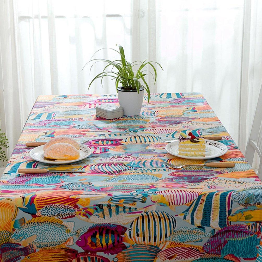YOUJIA Rectangulaire Nappe de Table Style Moderne Marine Anti-t/âche Housses Linge de Table pour F/ête Caf/é H/ôtel Marine Bleu, 60 * 60cm