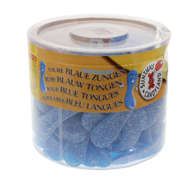 Blaue Zungen Bonbons