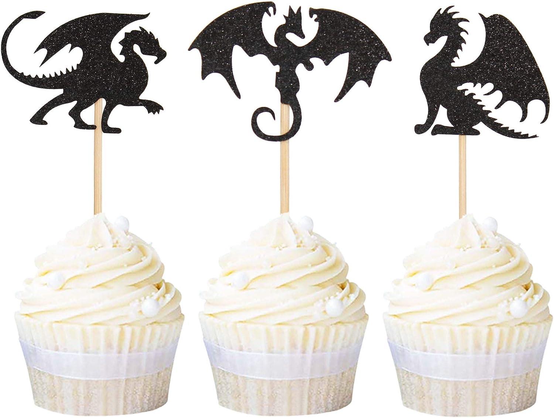 Dragon Birthday Girl Dragon Birthday Decorations Girl Dragon Cupcake Toppers Dragon Cupcake Toppers Dragon Birthday decorations