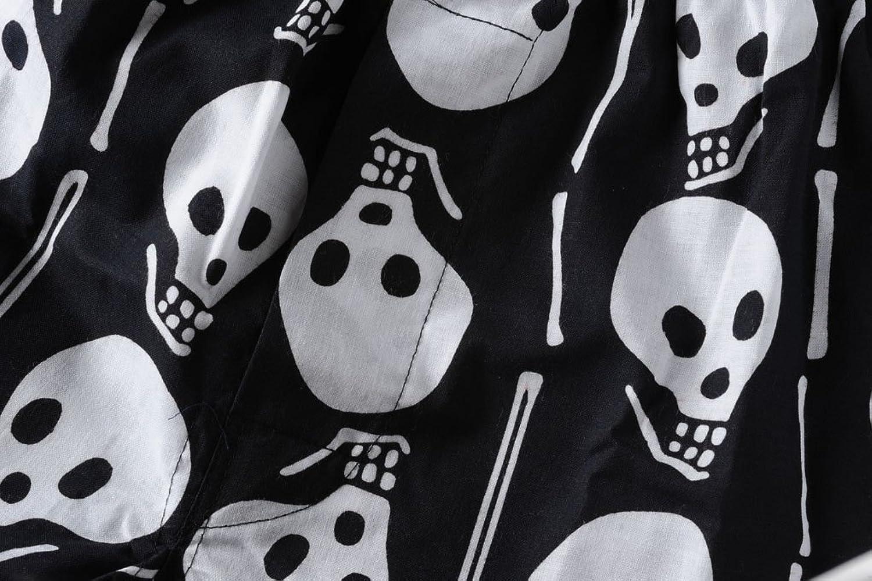 Men's trunks - dramatic white skull design