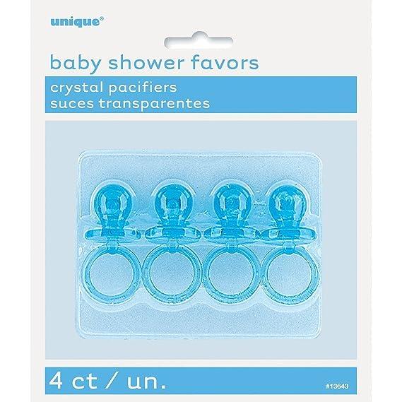 Juego de 4 Mini Chupetes Azul, Baby Shower Bebé 15893 *: Amazon.es ...