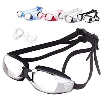 2fb94efd651d VITCHELO Anti Fog Swimming Goggles for Youth Adult Men Women. Leakproof  Competitive Mirrored Swim Goggles Best for Open Water Sports Racing  Triathlon Beach ...
