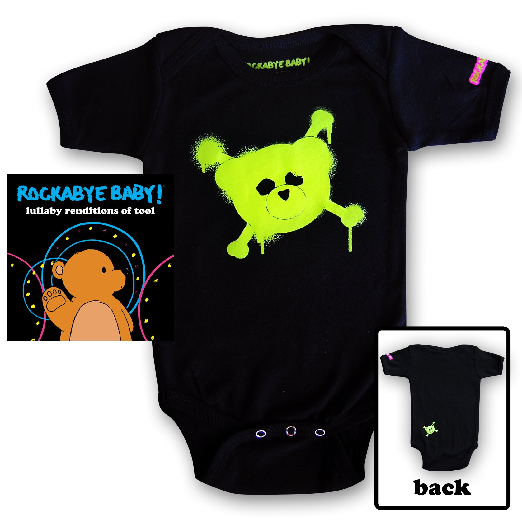 Rockabye Baby! Lullaby Renditions of Tool + Organic Baby Bodysuit (Green) by