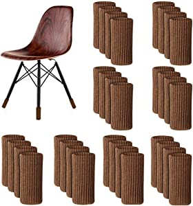 32Pack - Furniture Leg Socks Covers, Knitted Furniture Pads, Elastic Floor Protectors, Non Slip Chair Leg Feet Socks Covers, Furniture Caps Set, Fit Furniture Feet Girth from 4