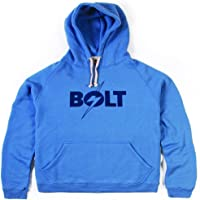 L.Bolt Logo Triblend Fleece Hoodie Sudadera, Hombre, Azul
