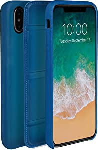 ullu UDUO2GXVT91 Premium Leather Cell Phone Case for iPhone X/XS - Turkish Delight Blue, iPhone X/Xs