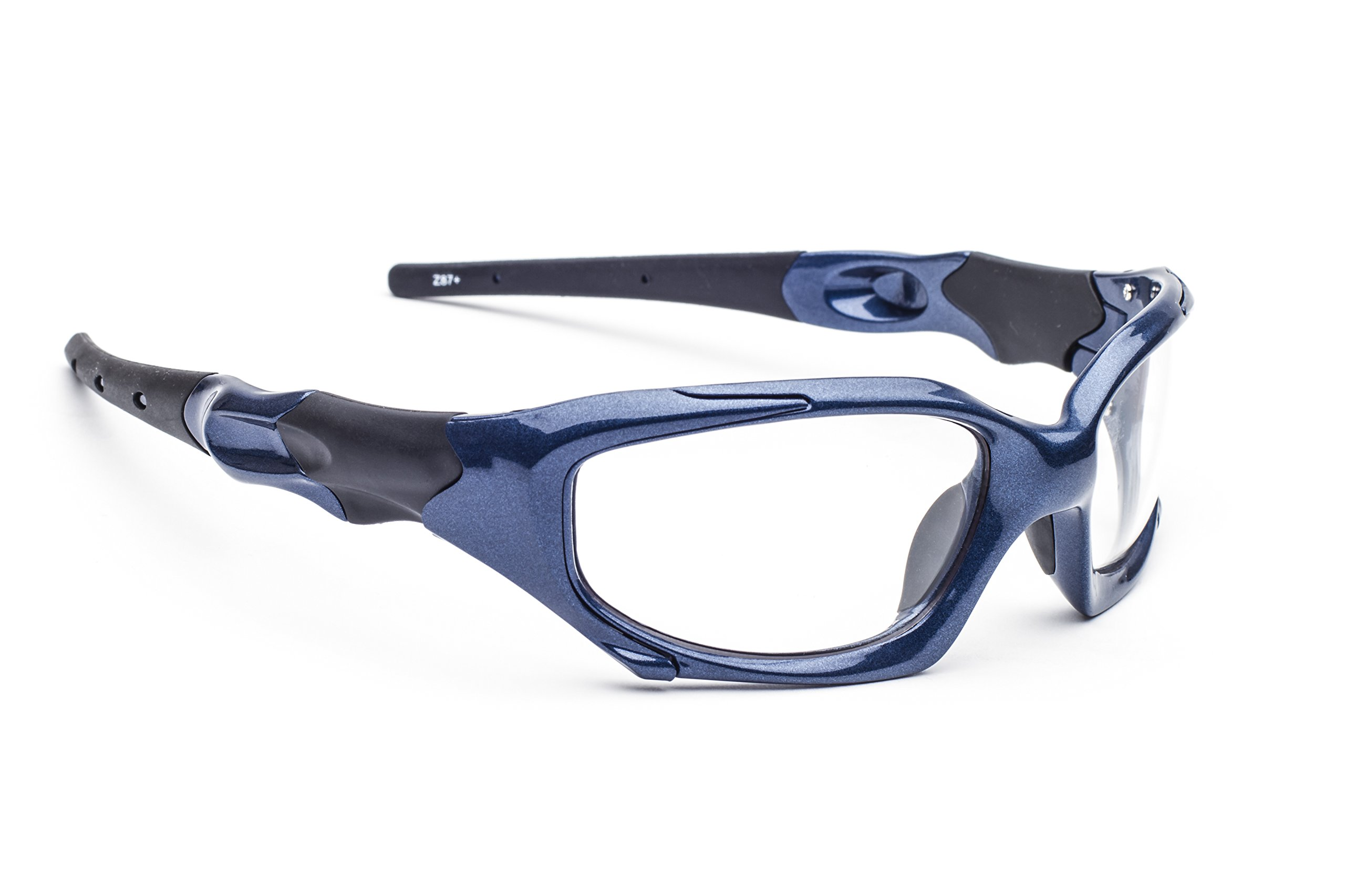 Leaded Glasses Radiation Protective Eyewear PSR-100 (Blue) by Model 1205 (Image #1)