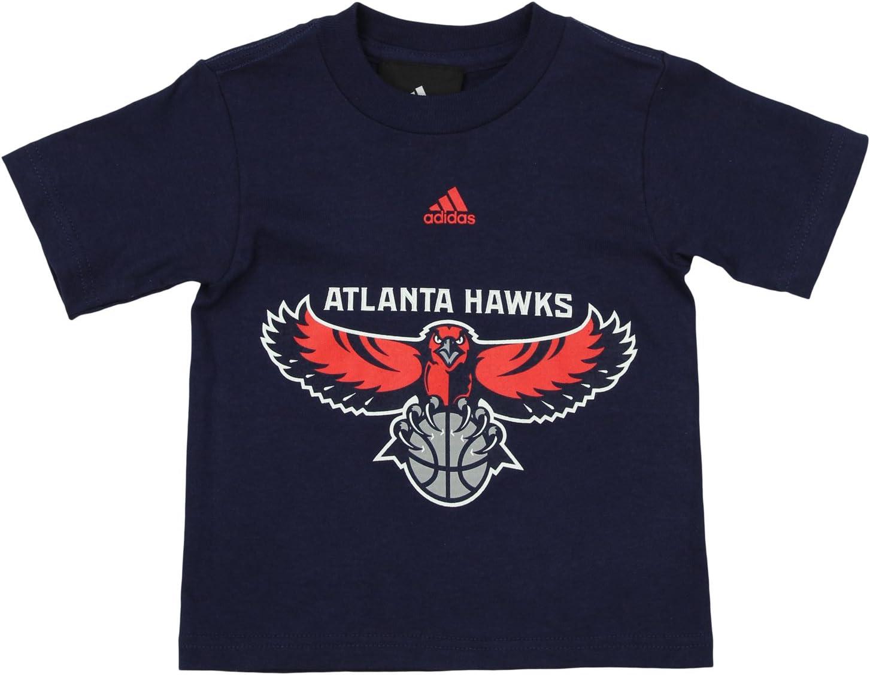 adidas NBA Camiseta de Manga Corta con Logotipo de Atlanta Hawks ...
