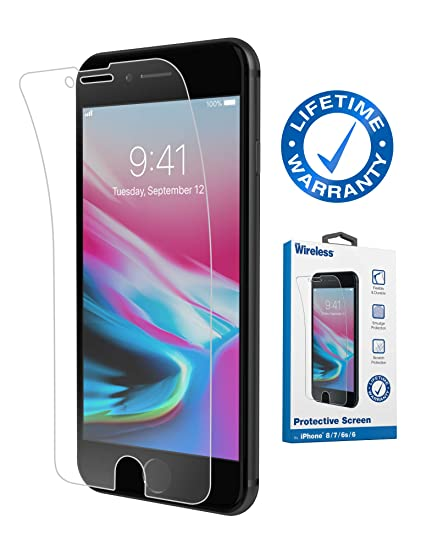 wholesale dealer 24597 0bd49 Amazon.com: Just Wireless iPhone Screen Protector with 9H Hardness ...
