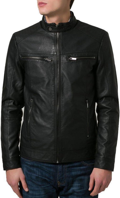 brandMe Mens Genuine Leather Pure Lambskin Biker Jacket MM353