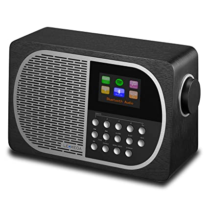 LEMEGA M2+ Smart Radio with Internet Radio, FM Radio, Bluetooth, Spotify,  WiFi, Headphone-Out, USB MP3, AUX-in, Clock, Alarms, Sleep, Snooze, Colour