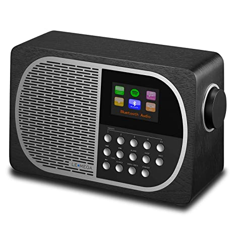 LEMEGA M2+ Smart Radio with Internet Radio, FM Radio, Bluetooth, Spotify, WiFi, Headphone-Out, USB MP3, AUX-in, Clock, Alarms, Sleep, Snooze, Colour ...