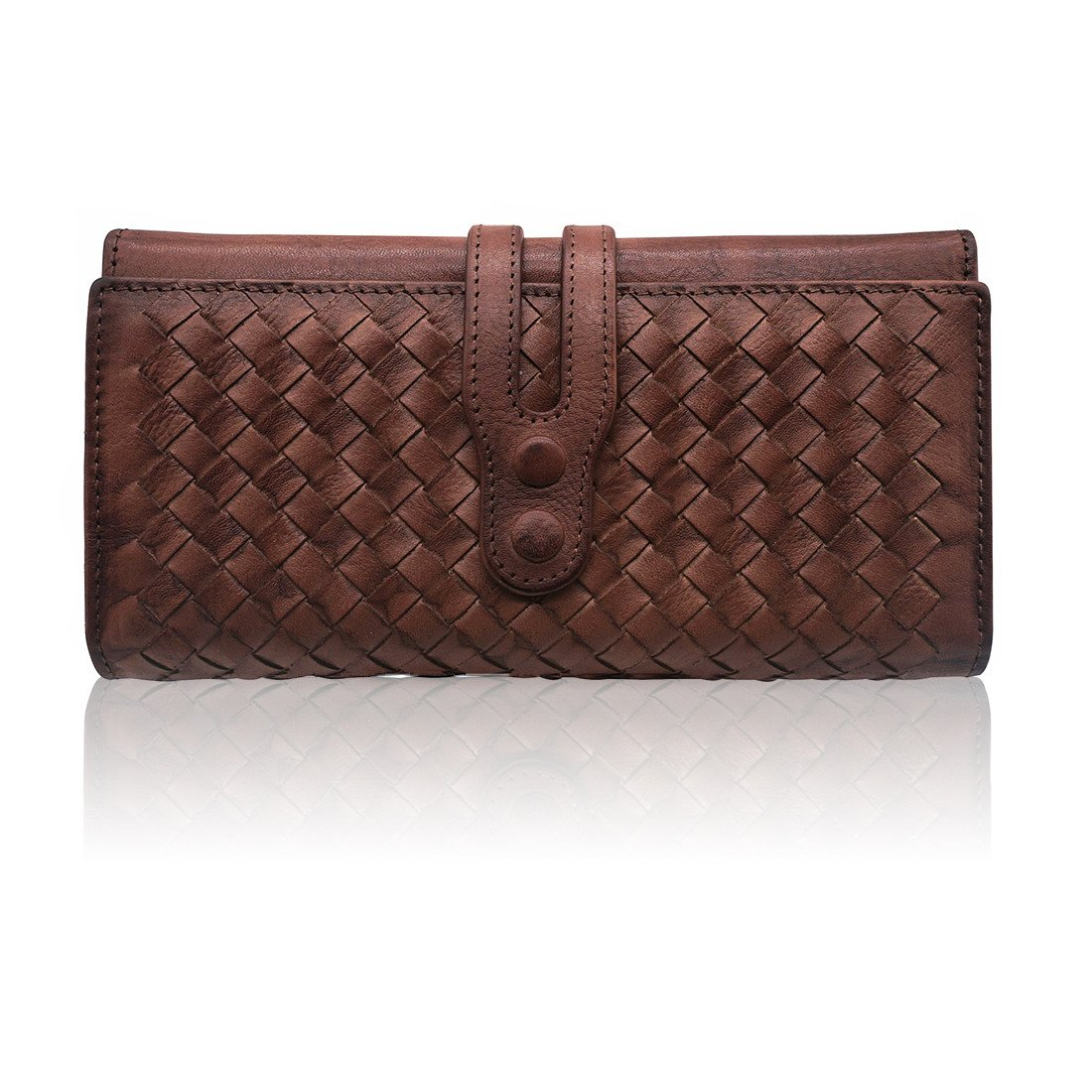 Wallets for Women Genuine Leather Handmade Ladies Woven Wallet Purse  Knitting Card Holder(Coffee) at Amazon Women s Clothing store  36601304ee7d9
