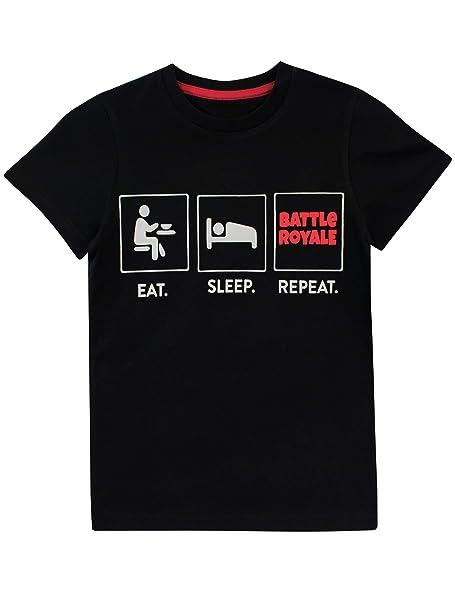 Battle Royale Camiseta para niño Fortnite Negro 7-8 Años