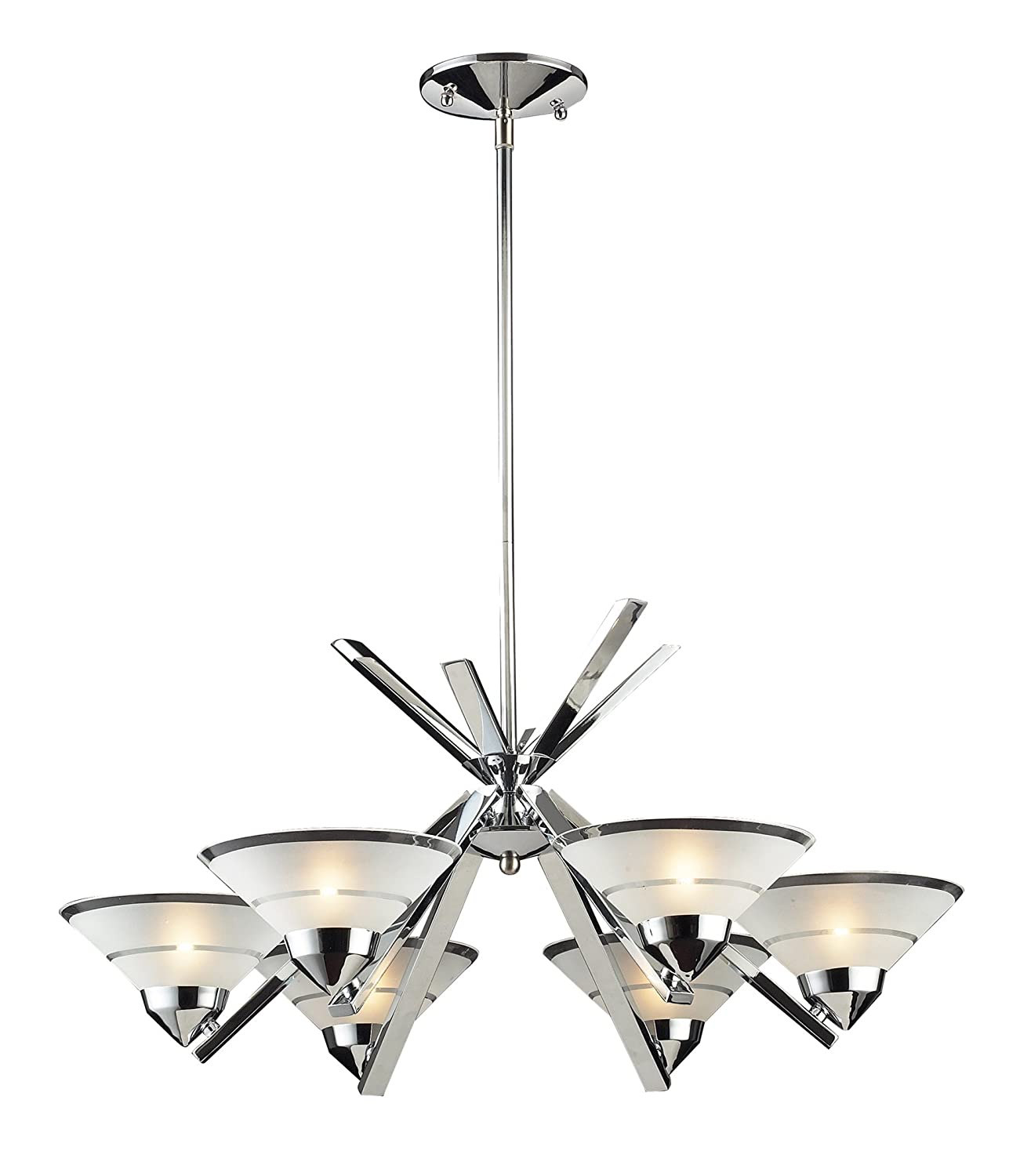 Elk 14756 6 light chandelier in polished chrome and etched clear elk 14756 6 light chandelier in polished chrome and etched clear glass amazon arubaitofo Images